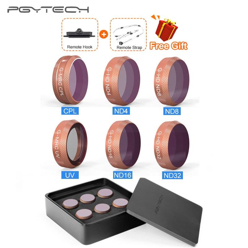 PGYTECH Advanced DJI Mavic Air Filter Kit UV CPL ND4 ND8 ND16 ND32 Lens Filter Set For DJI Mavic Air Drone Camera lens Filters-in Drone Filter from Consumer Electronics