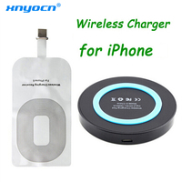Qi Wireless Charging Kit for IPhone 7 8 6 6S Plus 5 5c 5s Wireless Charger Charging Pad and Receiver Card Kit for Iphone7 8 Plus|wireless charging kit|charge kit|qi wireless charging kit -