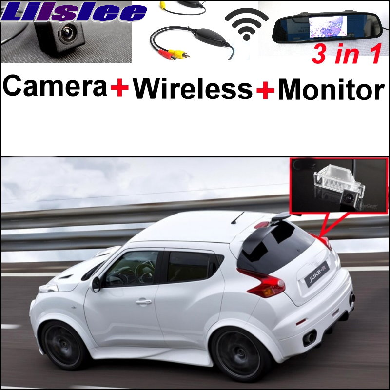Liislee For Nissan JUKE 2011~2015 3 in1 Special Rear View Camera + Wireless Receiver + Mirror Monitor Easy DIY Parking System liislee 3 in1 rear view special camera mirror monitor easy back up parking system for nissan nv200 evalia wireless receiver