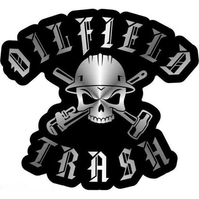 new style 31fc7 3f9d8 ... discount code for 10pcs oilfield trash skull tools chrome on black hard  hat sticker decal b6f08