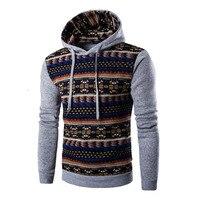 2016 Hoodies Mens Hombre Hip Hop Male Brand Hoodie Fashion Geometric Print Sweatshirt Sport Suit Men