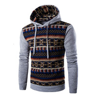 2016 Hoodies Mens Hombre Hip Hop Male Brand Hoodie Fashion Geometric Print Sweatshirt Sport Suit Men