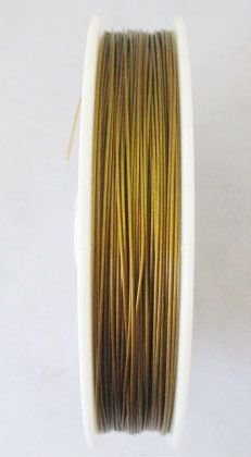 20R Tiger Tail Beading Wire, Jewerly Cord, Nylon Coated Stainless Steel Wire Mixed Color 0.45mm