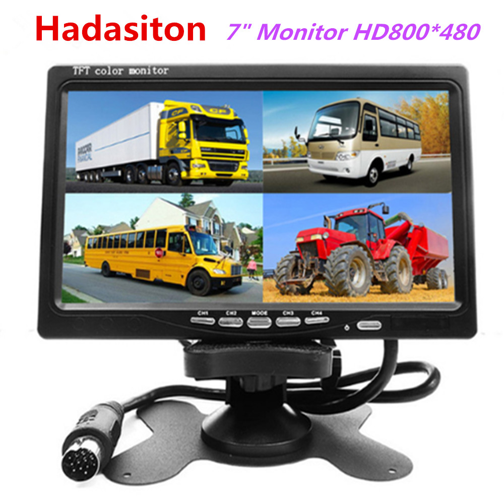 7 inch 4 Split Screen Car Monitor Headrest monitor 4 video input Use for Truck Bus