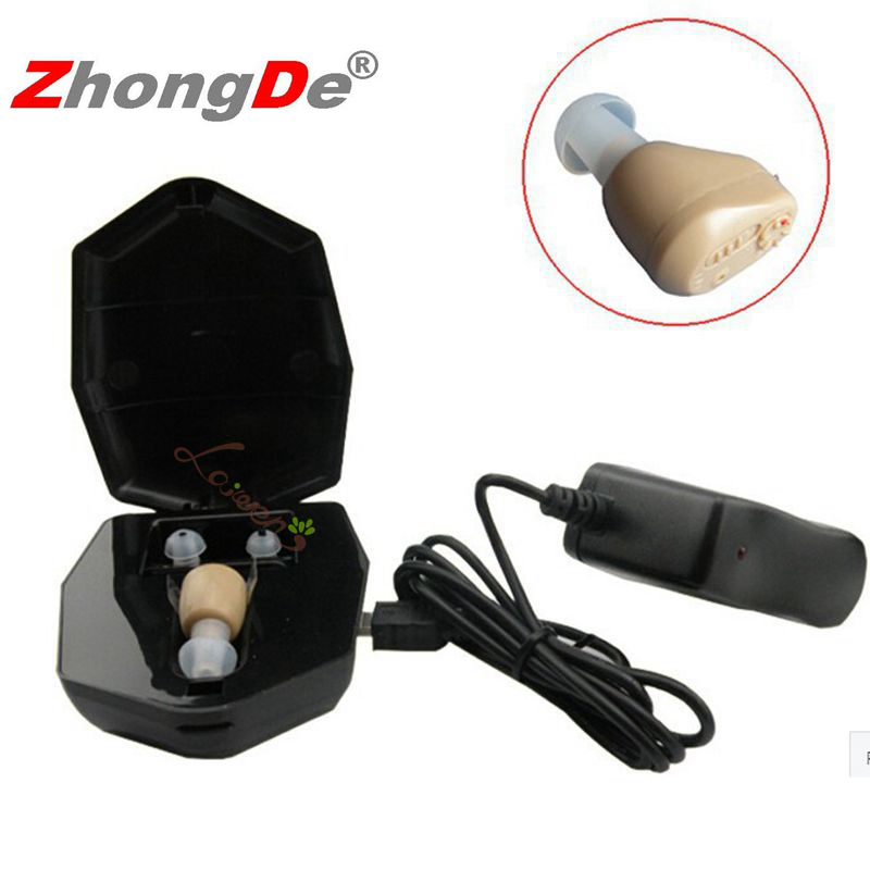 ZhongDe Rechargeable mini hearing aids hearing amplifier ZD-900D ear sound amplifier hearing aids rechargeable hearing aid newest rechargeable hearing aid auidphones my 33 microphone amplifier to profound deaf aids a kit double pieces