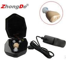ZhongDe Rechargeable mini hearing aids hearing amplifier ZD-900D ear sound amplifier hearing aids rechargeable hearing aid