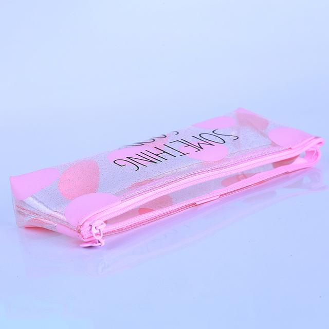 Cute Cat Printed Pink Pen Case