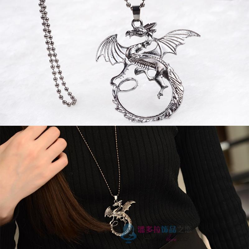 1 game of thrones necklace Targaryen dragon song of ice and fire vintage Desolation of Smaug pendant for men and women wholesale