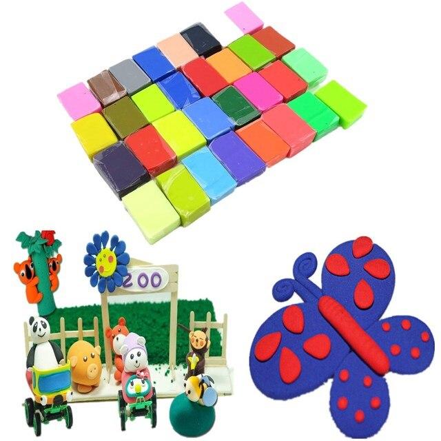 32 Цветов Блоки Мягкая Для Fimo Effect Полимерная Глина Красочные Блоки Пластилин Для Детей