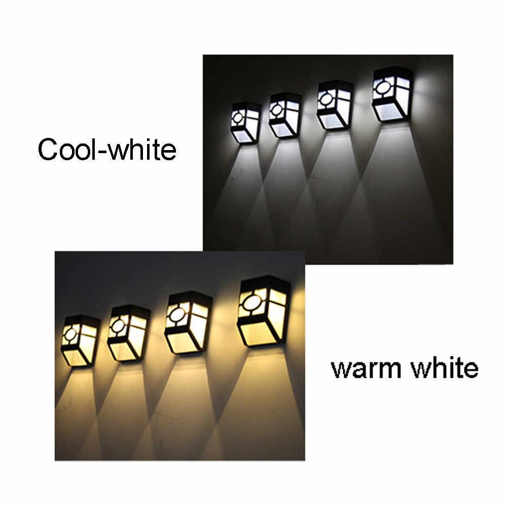 Лидер продаж Солнечный свет 2 светодиодный настенные светильники для дома уличные садовые фонари IP44 Водонепроницаемый стены дворовая дорожка пейзаж свет фонари на забор