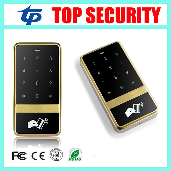 125KHZ RFID card access controller touch keypad surface waterproof 8000 users door access control system card reader waterproof touch keypad card reader for rfid access control system card reader with wg26 for home security f1688a