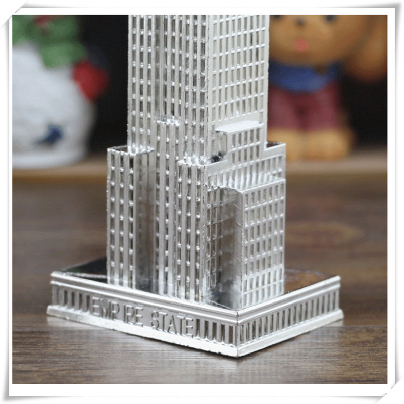 Chinese-style Metal Figurine Empire State Building American Landmark Skyscraper Model Home Creative Decoration Shooting Props
