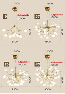 Image 5 - LED اليراع الحديثة الثريا ضوء أنيق شجرة فرع مصباح نجف السقف الزخرفية الثريا معلقة Led الإضاءة