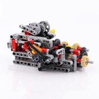 1 Set MOC TECHNIC 8 SPEED SEQUENTIAL GEARBOX Educational Building Blocks Bricks Parts DIY Toys Compatible with legoes Technic