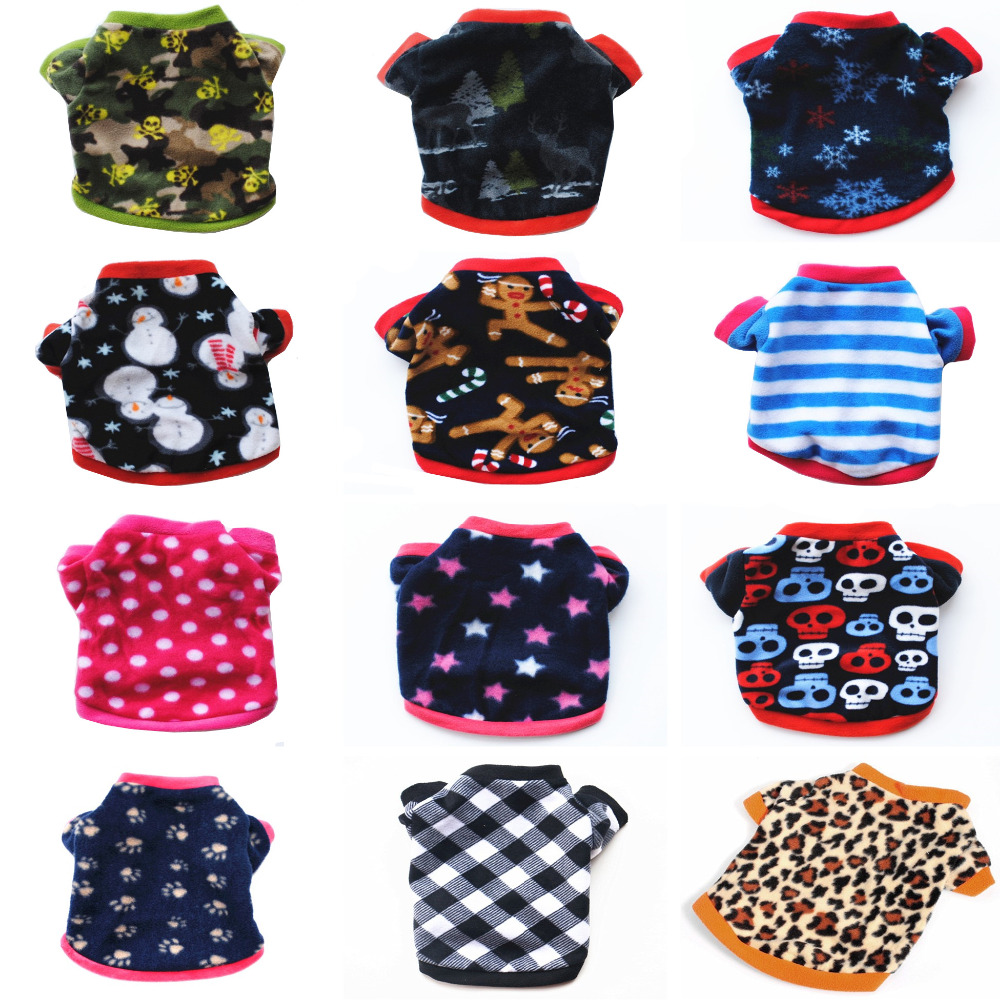 ULTRASOUND PET Coat coat Giacche Vestiti per cani Leopard Fleece Star Dog Clothes Articoli per animali domestici Hoodies per cani Chihuahua York