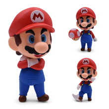 цены Anime SHFiguarts Super Mario Bros Mario 473 PVC Action Figure Doll Collectible Model Baby Toy Christmas Gift For Children