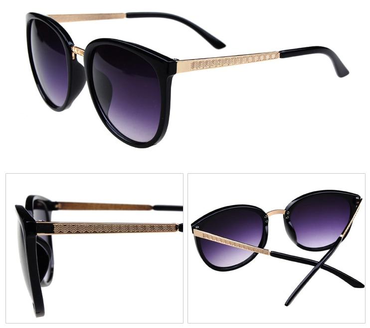 d9c7621b5 2015 New arrival fashion vintage cat eye brand design Metal sunglasses  Luxury retro women's round sun glasses free shipping