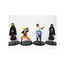 WVW 4pcs/Set Anime Heroes Naruto Uzumaki Naruto Madara Itachi Sasuke Model PVC Toy Action Figure Decoration For Collection Gift