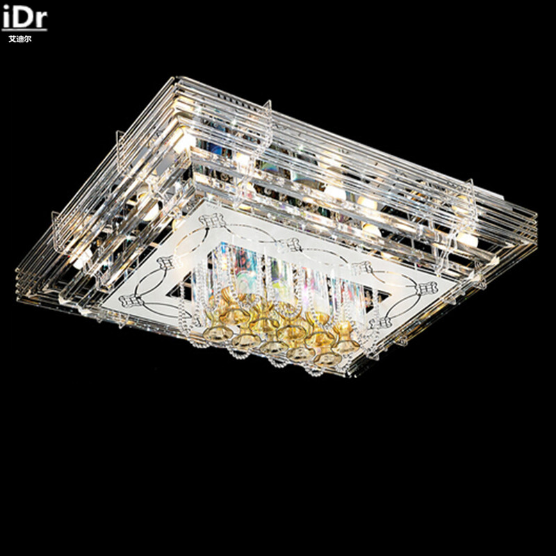 Modern Personality Living Room Dining Den Crystal LED Ceiling Low Pressure Plate Lights Free