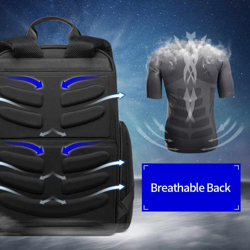 Многофункциональный рюкзак для мужчин BOPAI, черный деловой дорожный рюкзак с отделением для ноутбука 15,6 дюйма, с открытием на 90 градусов, 2019
