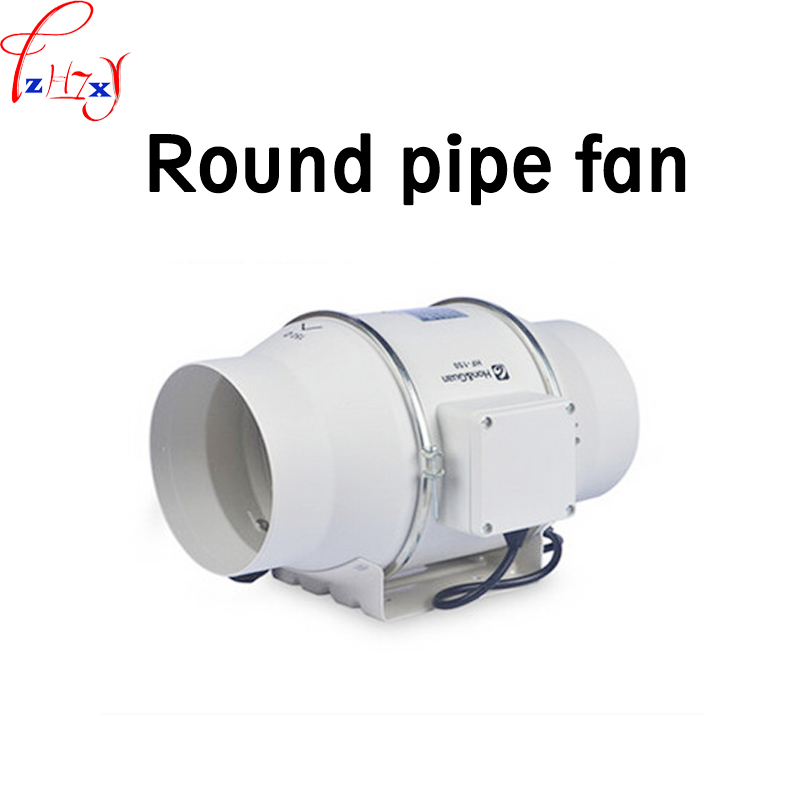 Inclined flow turbo-charged pipe fan HF-150P 6 inch strong ventilation exhaust fan circular pipe blower machine 220V 1PCInclined flow turbo-charged pipe fan HF-150P 6 inch strong ventilation exhaust fan circular pipe blower machine 220V 1PC