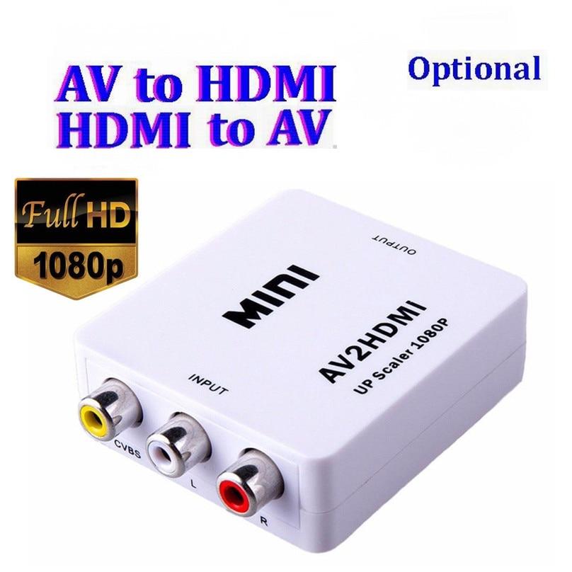 DE HDMI to AV CVBS Composite Video AV Converter Adapter TV VHS VCR HDMI 2AV DHL