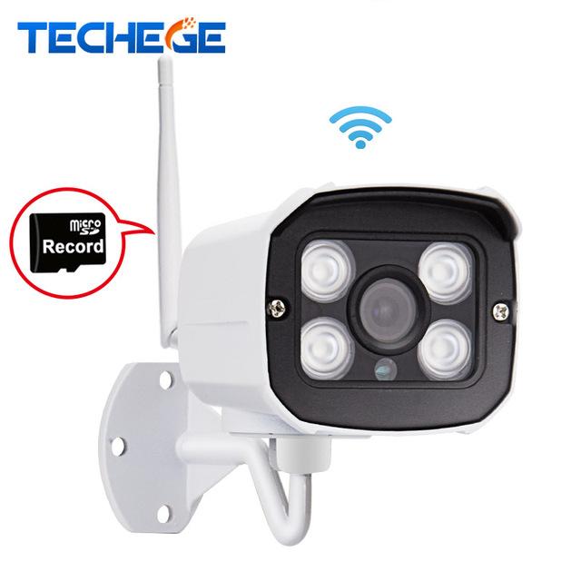 Techege mini 1280*720 p wifi ip caméra étanche hd réseau 1.0mp wifi caméra nignt vision dans/extérieure sans fil caméra ip