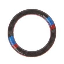 New Carbon Fiber Key Start Button Ring Decor Trim For BMW 3 Series E90 / E92 / E93ping Support