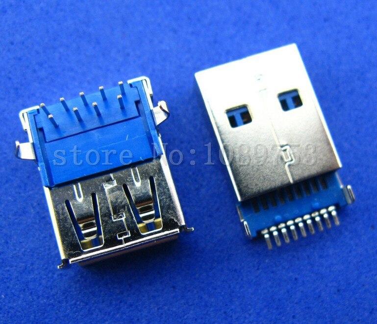 20 компл. Hi-Скорость USB 3.0 мужчина и женщина 9 P PCB припоя типа Разъем