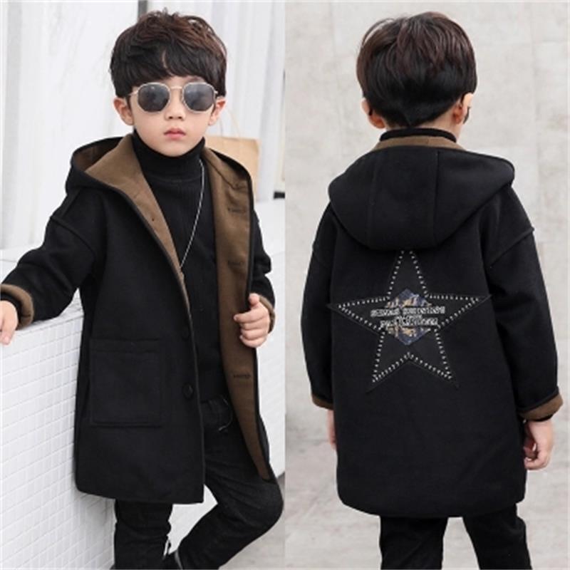 New 2018 Fashion lattice high quality Children Woolen Coat for Boys Hot Autumn Winter Fashion Buttons Kids Clothes Woolen coat цена