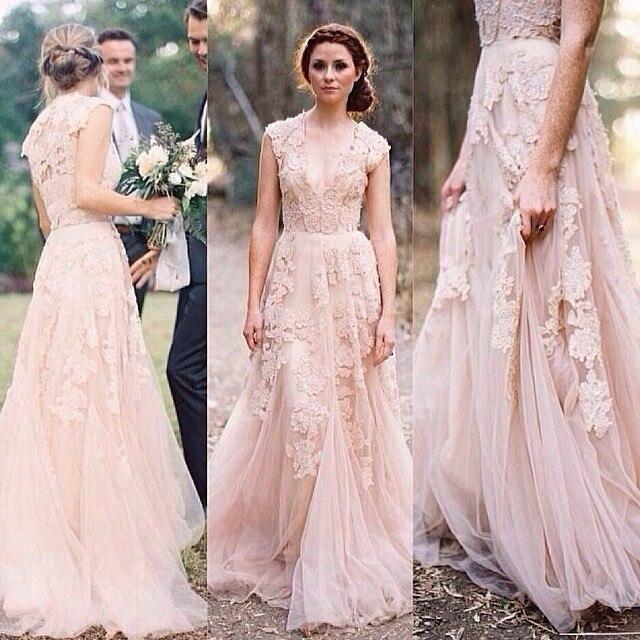 Vintage Princess Lace Pink Wedding Dresses china online store ...