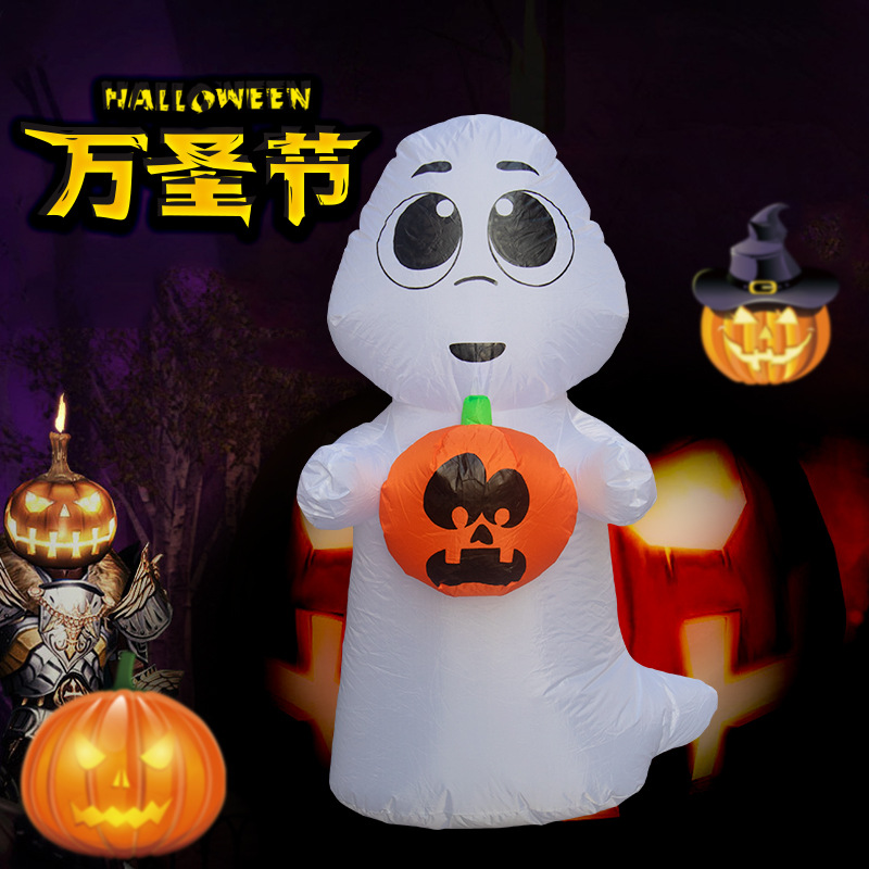 120CM 4FT Ghost Holding Pumpkin Inflatable Toys LED Lighted Home Yard Outdoor Decoration Christmas Easter Halloween Party Props120CM 4FT Ghost Holding Pumpkin Inflatable Toys LED Lighted Home Yard Outdoor Decoration Christmas Easter Halloween Party Props