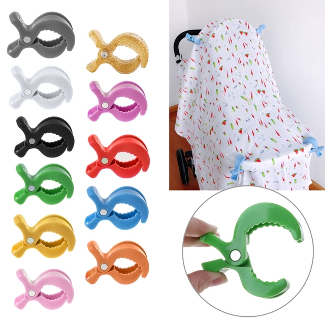 Colorful New Baby Car Seat Accessories Toy Lamp Pram Stroller Peg To Hook Cover Blanket Clips MAY31-A