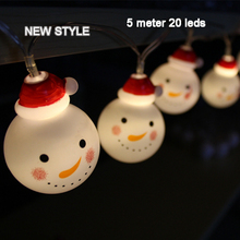 LED Christmas lights Garland Snowman lamp holiday lighting 5m 20led for outdoor wedding party curtain string Connectable