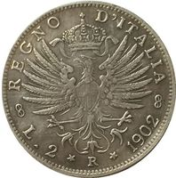 1902 Italy 2 lire COINS COPY FREE SHIPPING