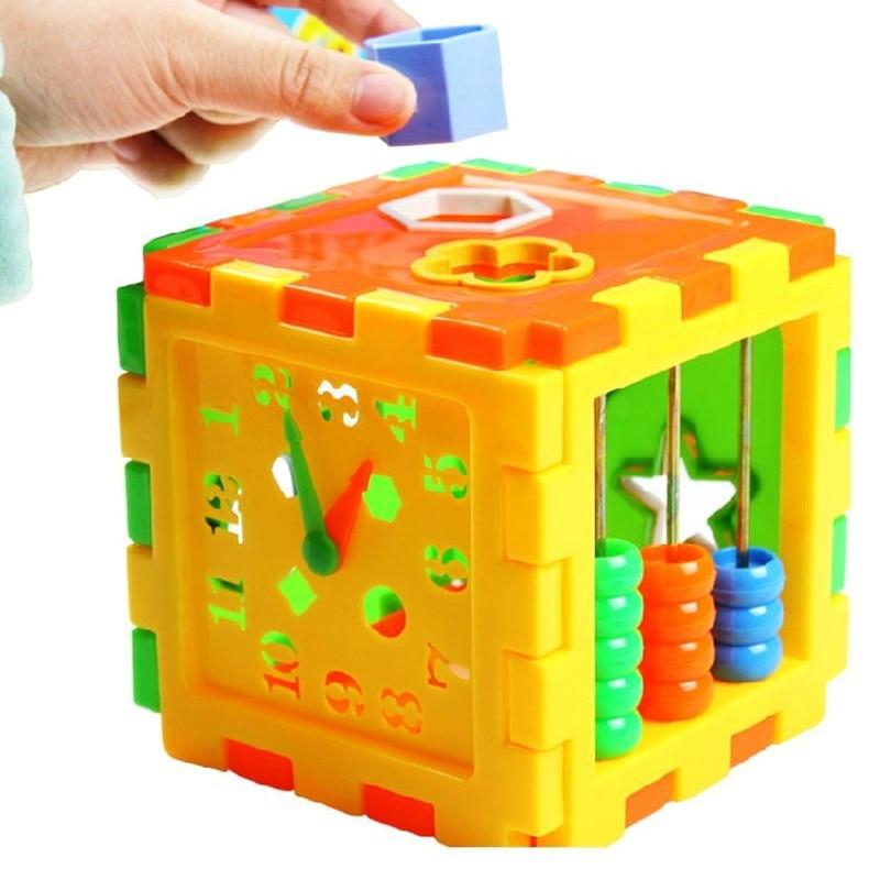 Hot Sale Plastic Baby Shape Box Child Baby Puzzle Box Educational