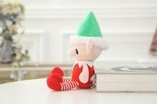 30cm Cute Christmas Spirit Doll Elf On Shelf Christmas Tradition Plush Soft Doll Animal Stuffed Toy For Baby Kids Birthday Gifts