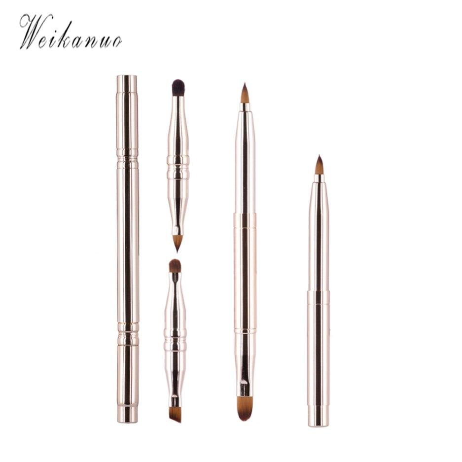 1Pcs Angled Golden Brush Synthetic Face Contour Blush Foundation Powder Makeup Brushes Professional Cosmetics Make Up Brushes