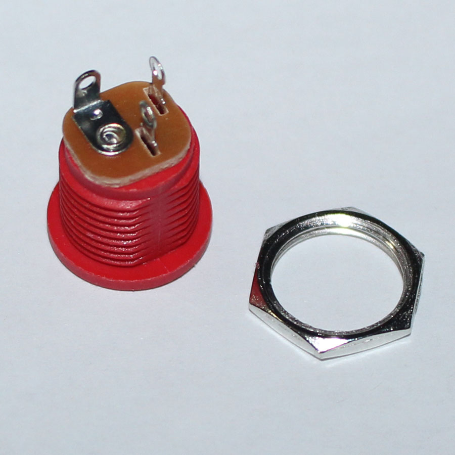 5pcs Dc 022 5521mm 55x21mm Power Plug Socket Connector 5x21mm Male Cable Wire Pigtail With 20awg Nut Panel Mounting Jack Adaptor Red Color In Connectors From Lights Lighting On