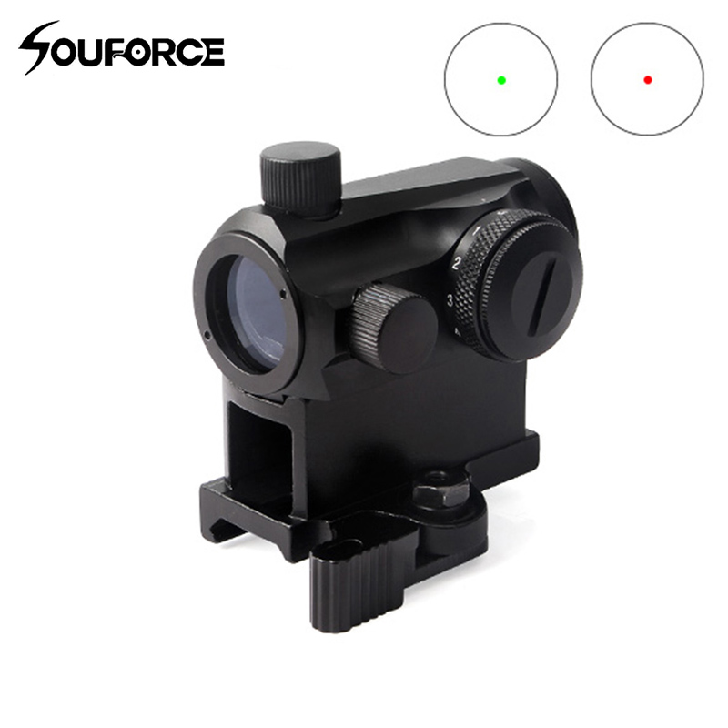 New Tactical Rifle Scope Sight Illuminated Sniper Red Green Dot Sight With Quick Release Fit 20mm Weaver Rail Mount For Hunting