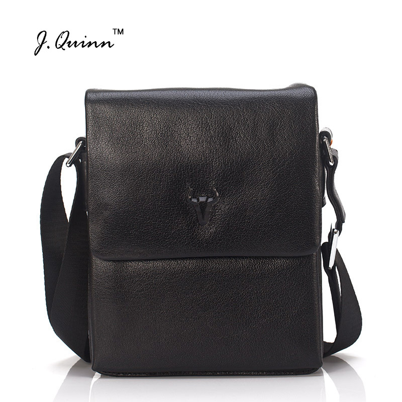 J.Quinn Men Messenger Bags Top Genuine Leather Designer Handbags High Quality Men's Bag Cowhide Man Shoulder Cross Body Bag Male