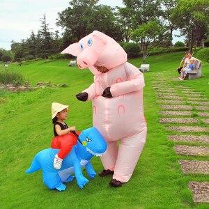 Image 3 - Costume gonflable de Jurassic World, mascotte de dinosaure, dessin animé, pour Thanksgiving, pour enfants et adultes, spectacle de fête, pour noël, T REX