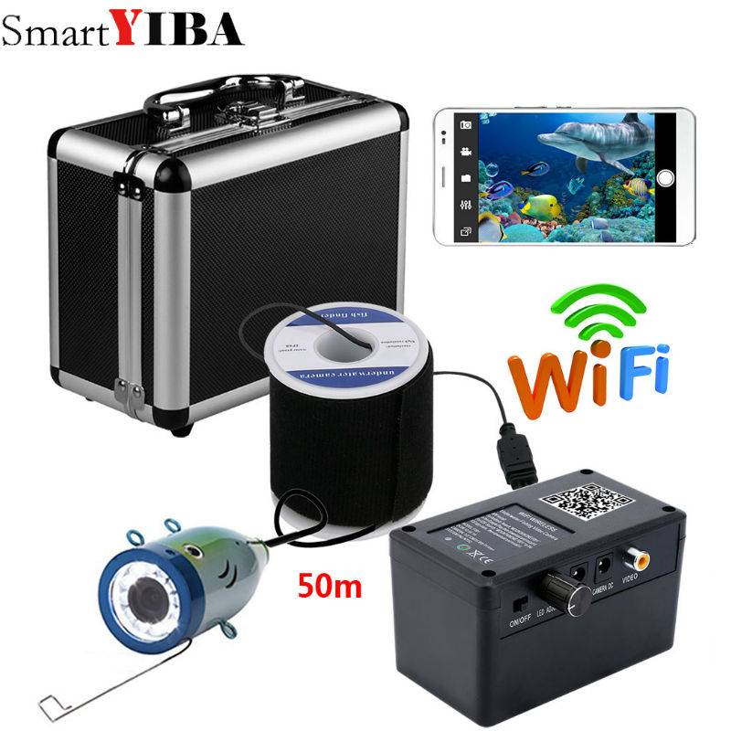 SmartYIBA HD Wifi Wireless 50M Underwater Fishing Camera Video Recording For IOS Android APP Supports Video Record ...