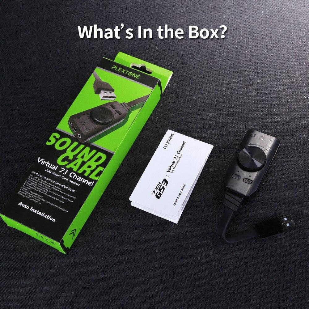 Plextone GS3 Virtual 7.1-Channel USB Sound Card Driver box