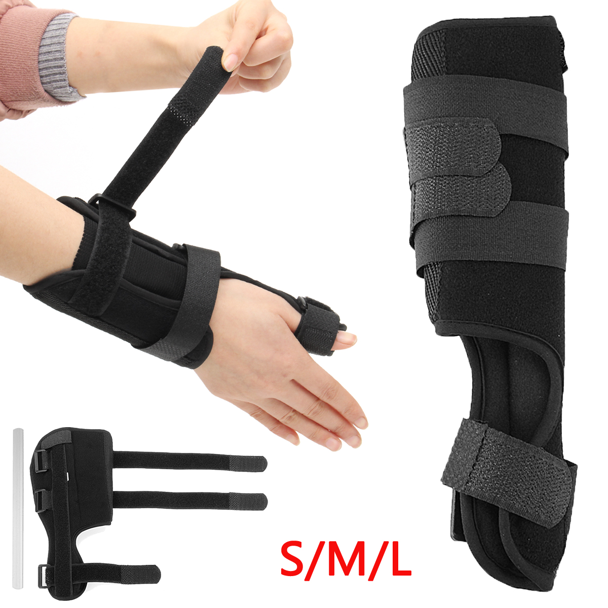Thumb Spica Wrist Splint Brace Support Sports Strap Stabiliser Arthritis Injury Correction Finger Pain Splint Protection Tendon