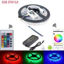 5M SMD5050 IP68 WiFi LED Strip For Fish Tank Aquarium Lamp Light Single Color RGB Flexible Tape Ribbon Controlled By Phone Alexa
