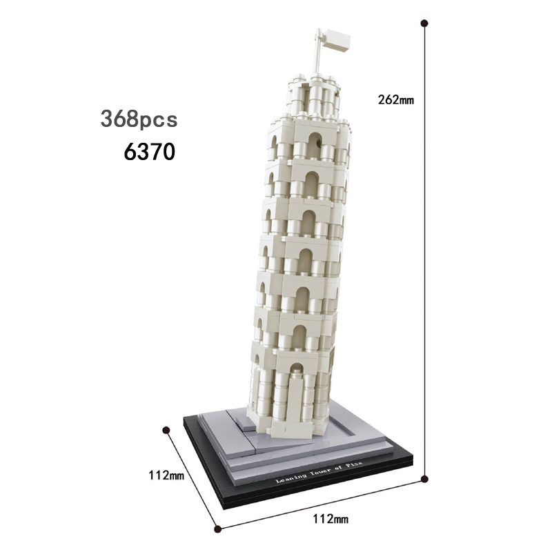 Hot world famous Architecture Leaning Tower of Pisa italy building block model bricks educational toys collection for children bauer bauer s17 vapor x500 взрослые размер 48