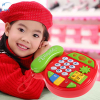 Children Kids Cartoon Music Phone Toy Educational Learning Telephone Toy Gift Random Color