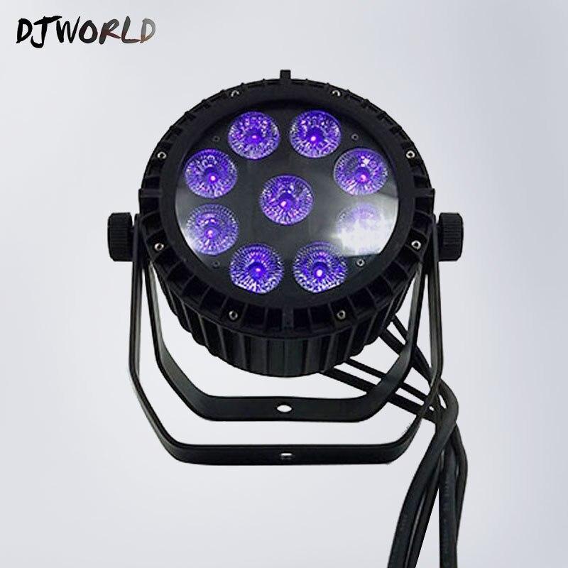 DJWorld LED étanche Par 9x18 W RGBWA + UV 6IN1 DMX LED Par lumière scène Studio théâtre lumières IP65 en alliage d'aluminium extérieur