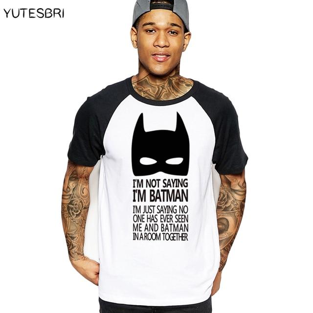 d3ab26a323e casual men t-shirt Top Tees T-shirts clothing cartoon The Batman sign geek  gray T shirt summer cotton drake raglan brand